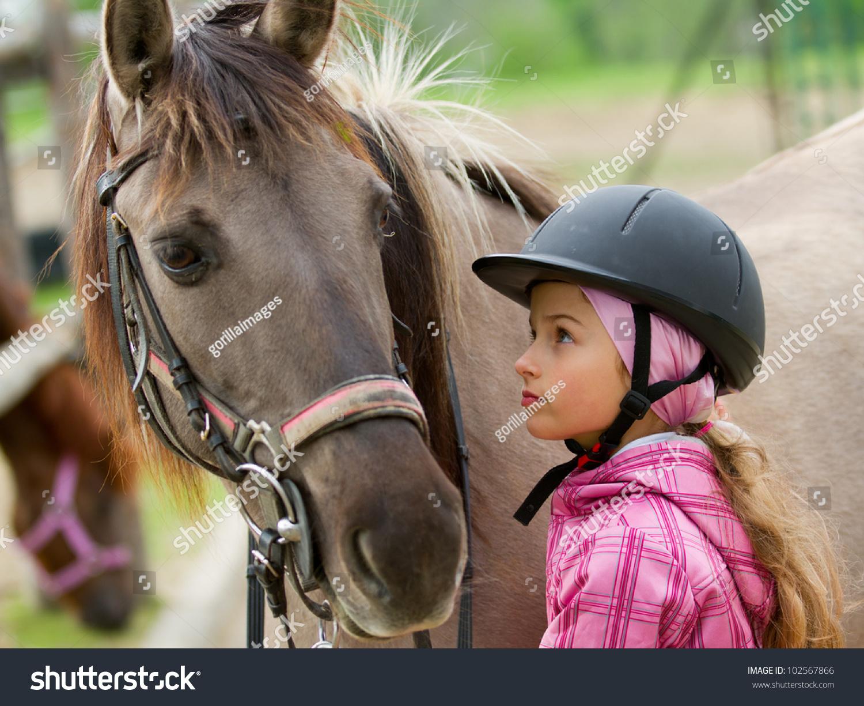 马和可爱的女孩,最好的朋友