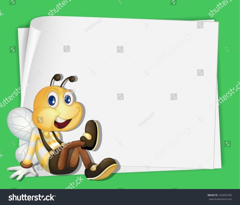 一只蜜蜂在纸上的插图-动物/野生生物,交通运输-海洛
