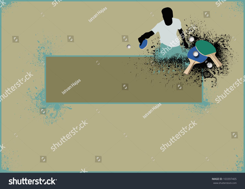 乒乓球背景与空间图片