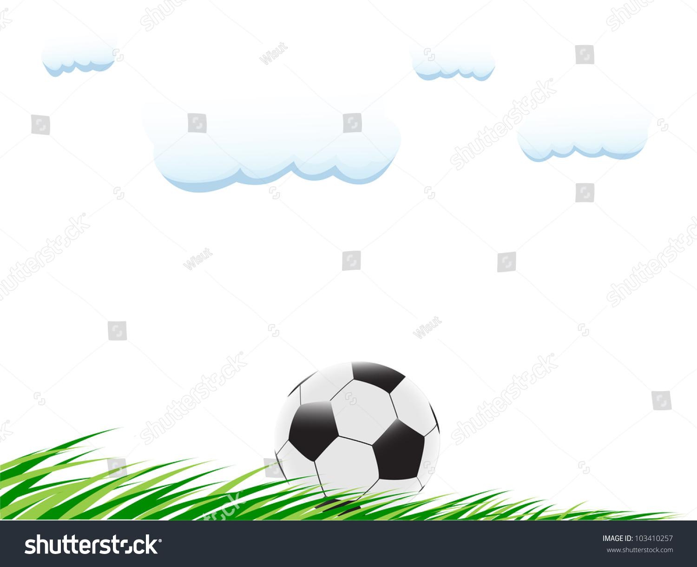 足球在草地上-背景/素材,运动/娱乐活动-海洛创意()-.