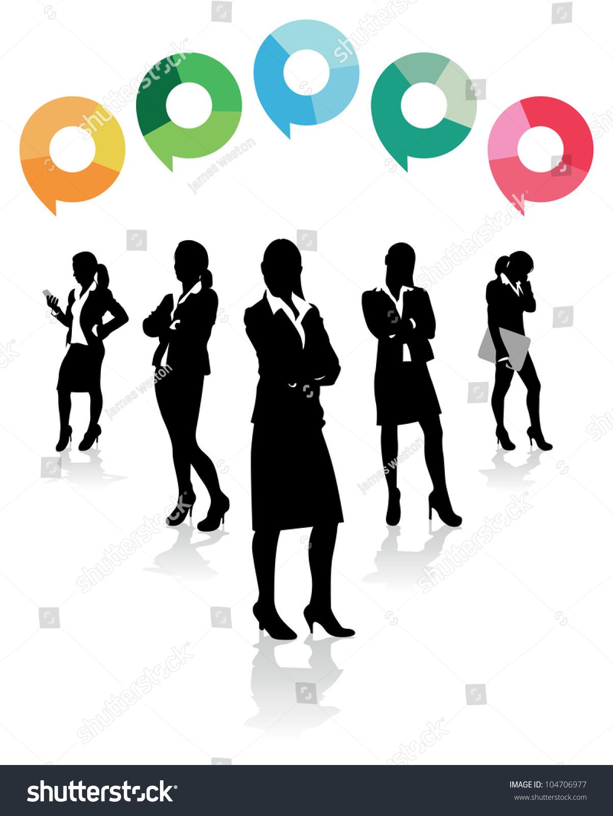 商业女性的言论气泡以上-商业/金融,人物-海洛创意()