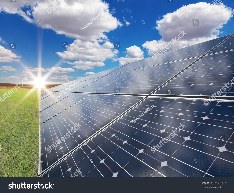 使用可再生的太阳能发电厂-科技,交通运输-海洛创意()