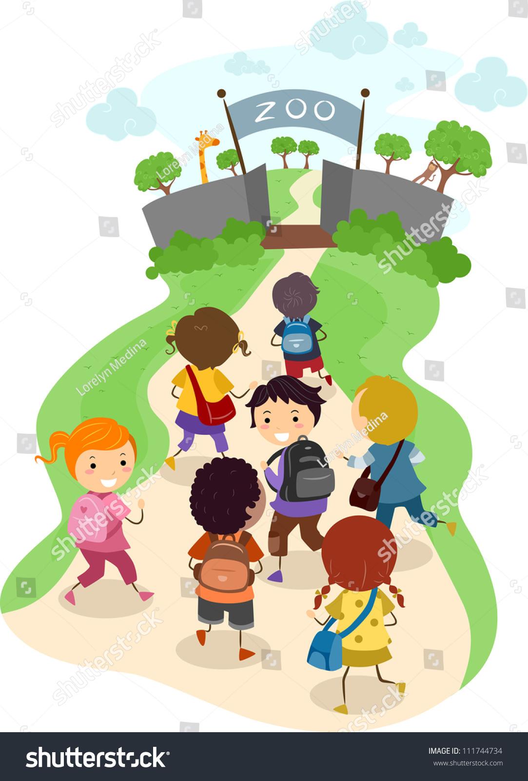 孩子们在去动物园的路上的一个例子-人物-海洛创意()