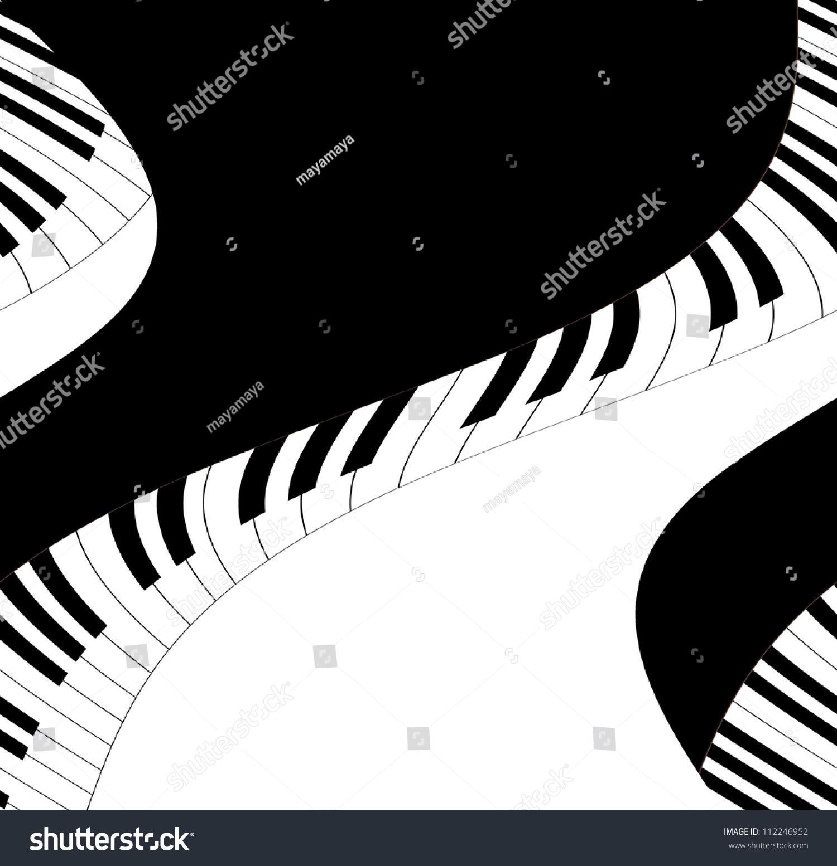 音乐文本框钢琴键-背景/素材