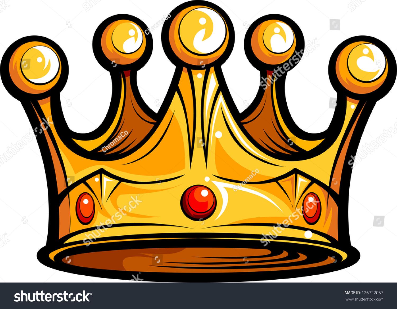 金色的王冠皇家金卡通矢量插图-物体-海洛创意()-中国图片