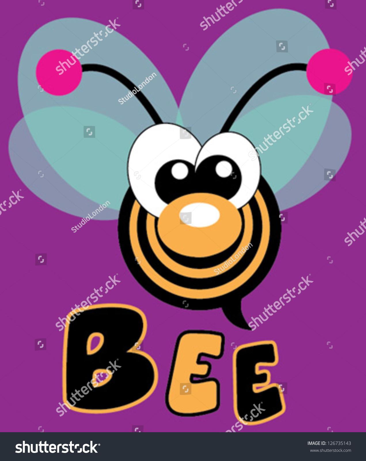 蜜蜂/ t恤图形/可爱的卡通人物/对孩子可爱的图形/书