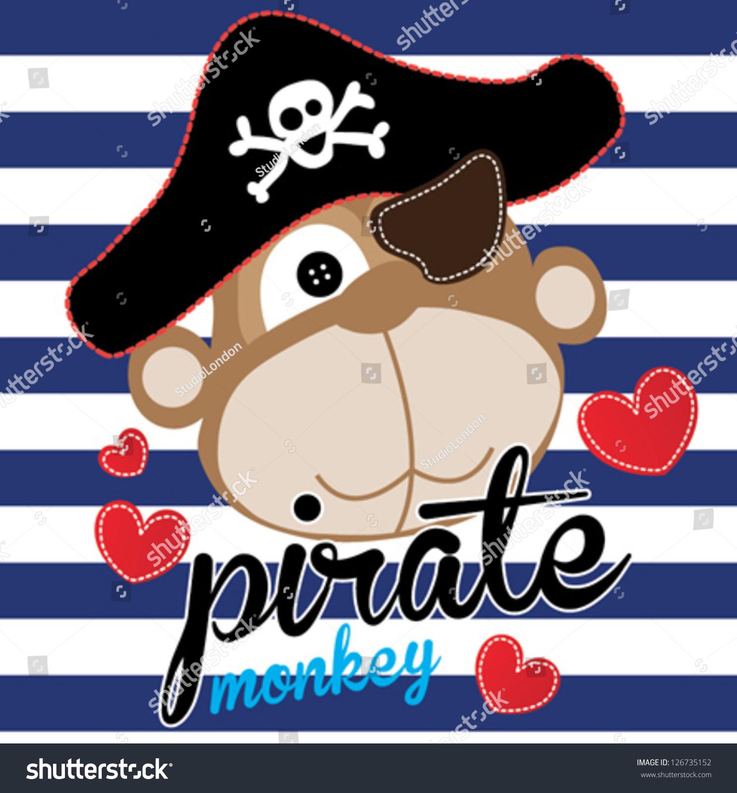 猴子/ t恤图形/可爱的卡通人物/对孩子可爱的图形/书