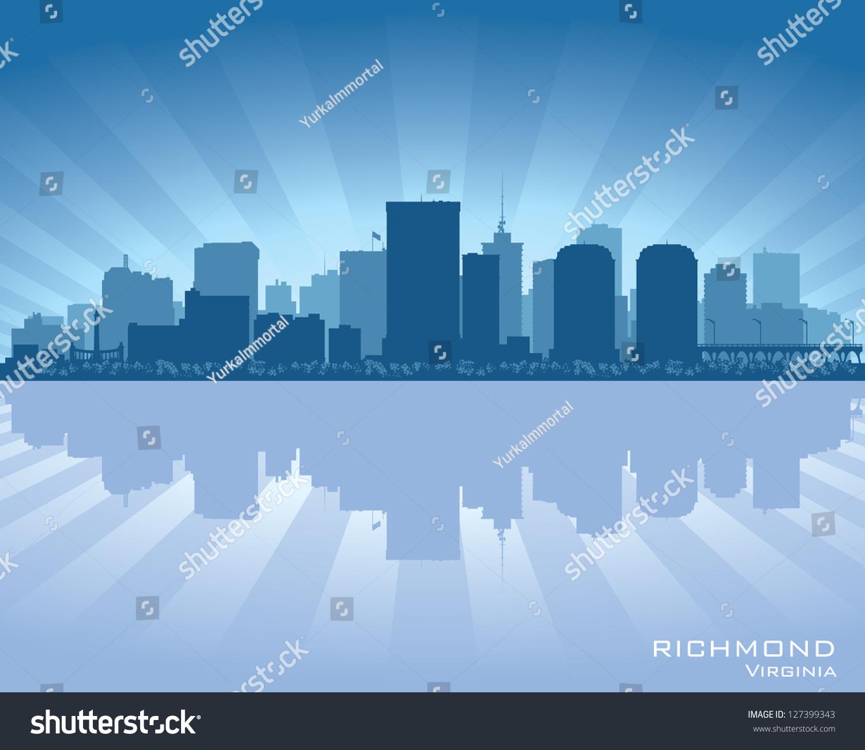 里士满,弗吉尼亚天际线城市剪影-建筑物/地标,商业