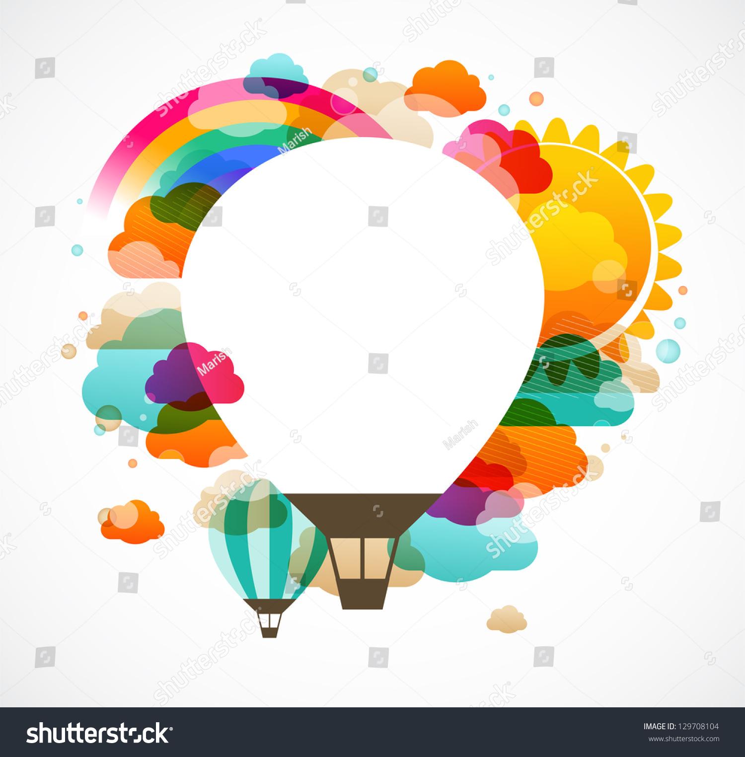 热气球,多彩的抽象向量背景-背景/素材-海洛创意()
