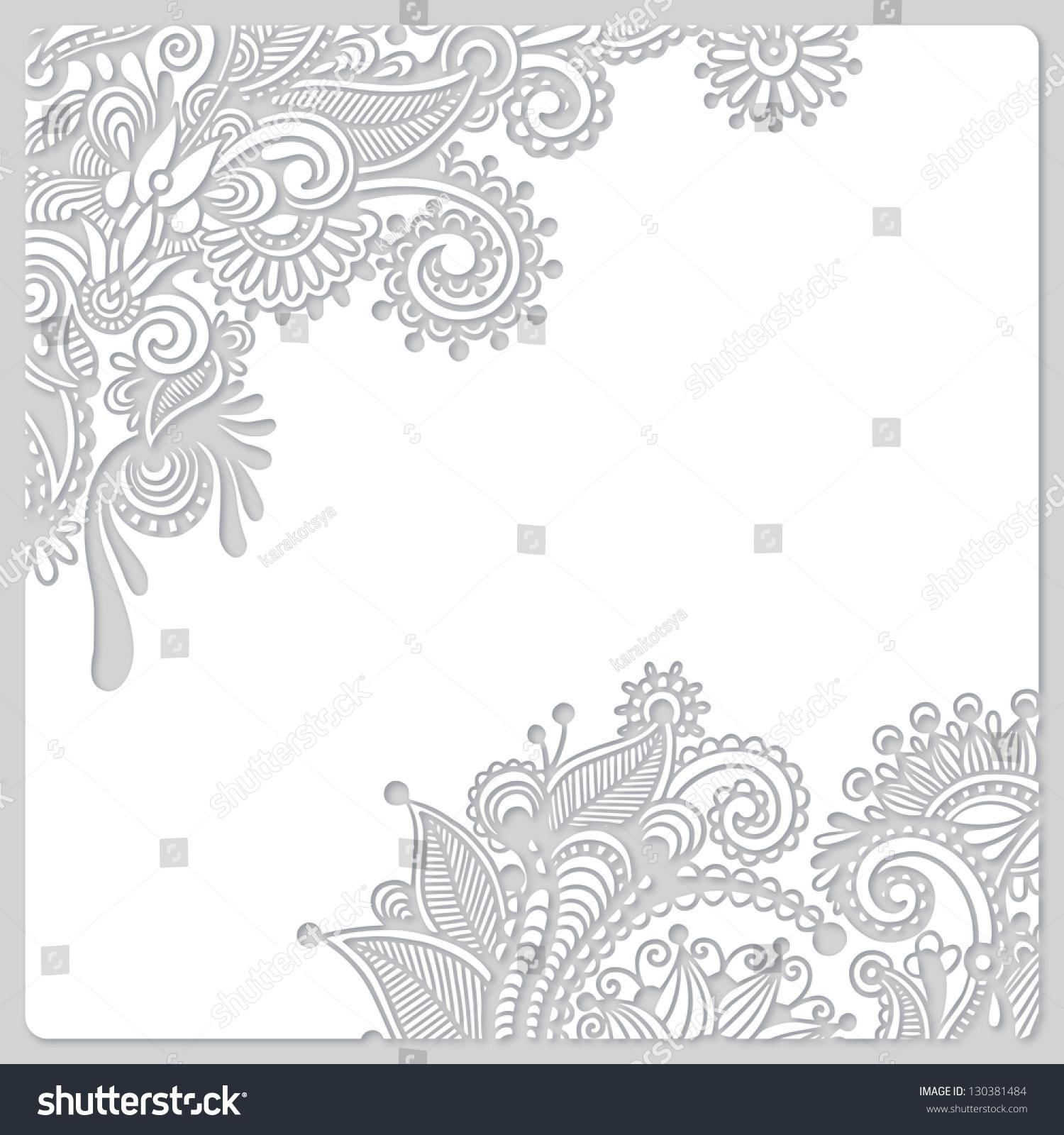 现代花白剪纸设计-背景/素材,抽象-海洛创意(hellorf)