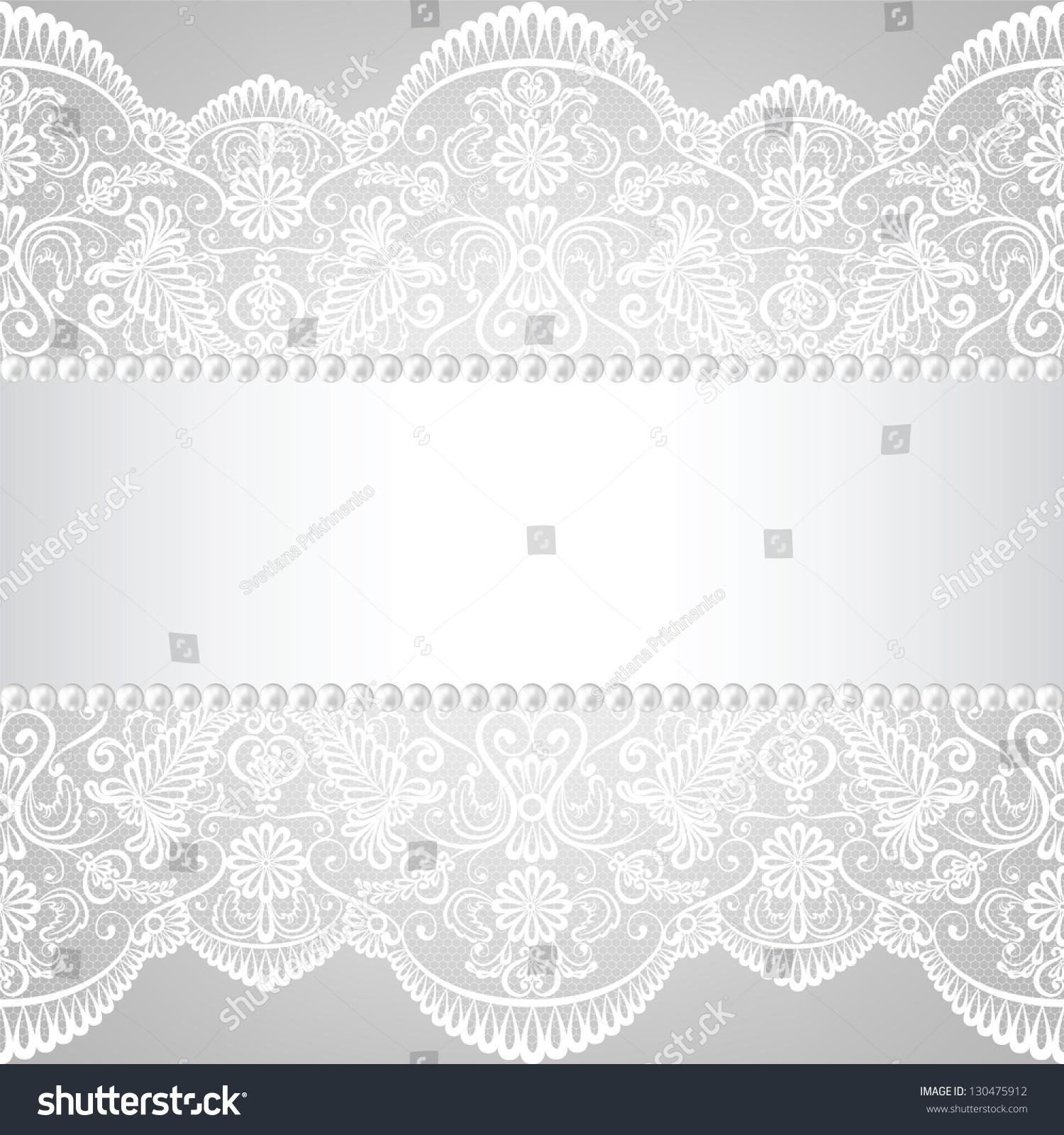 珍珠框架和花边的背景-背景/素材,假期-海洛创意()-合