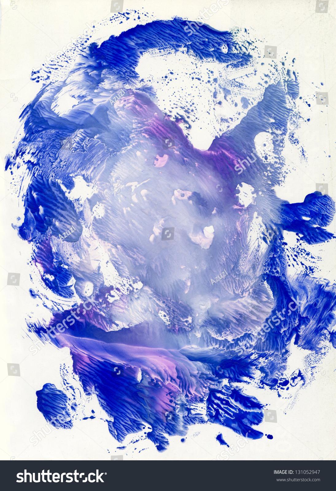 蓝色水粉垃圾的印象和变色-背景/素材,抽象-海洛创意