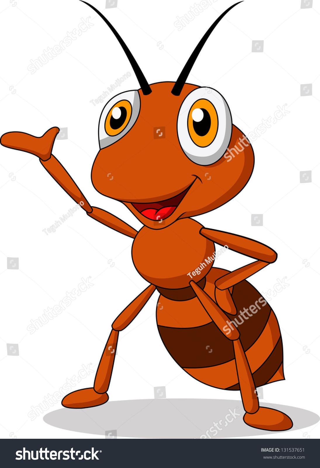 可爱的蚂蚁卡通-动物/野生生物-海洛创意(hellorf)