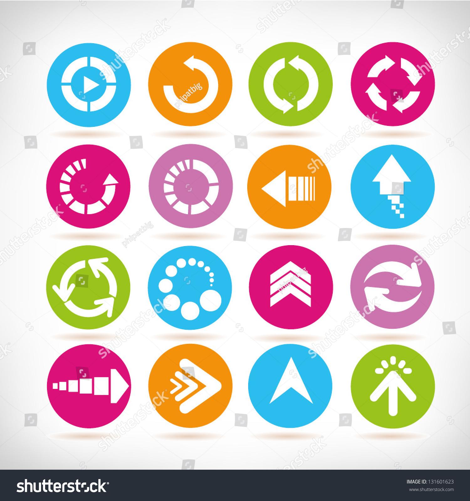 箭头符号集,加载图标,网页设计图标集