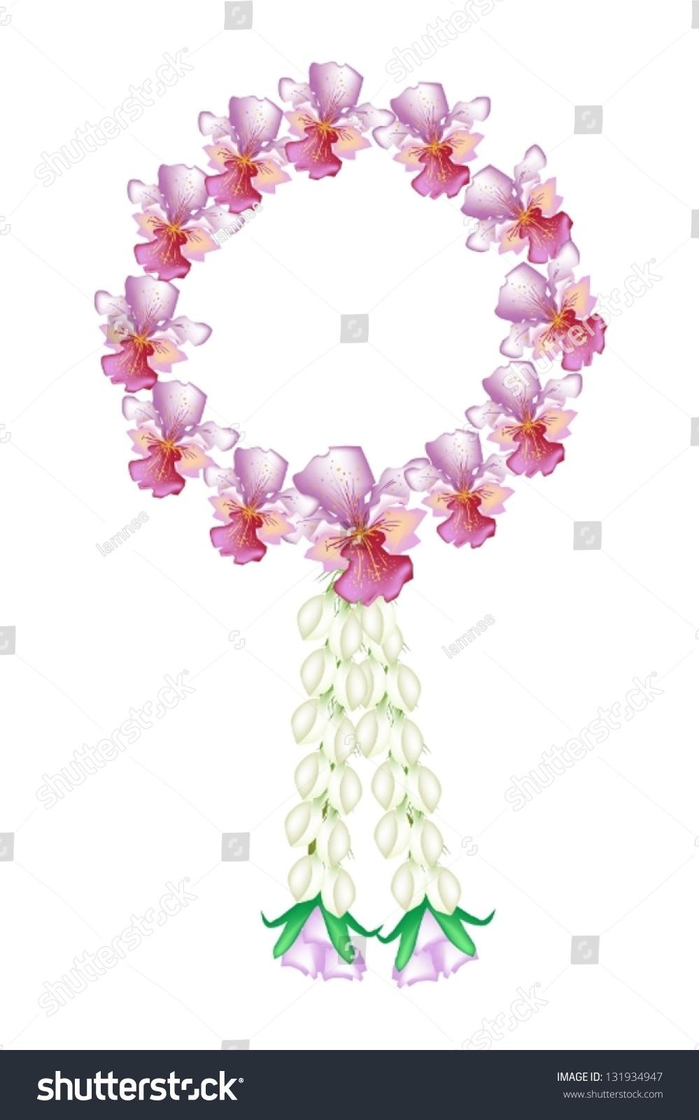 泰国手绘花朵插画
