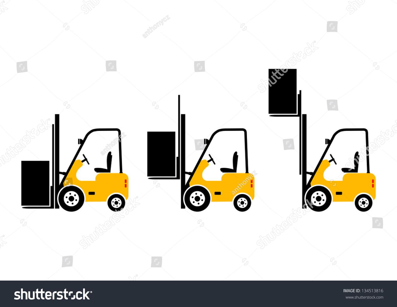 叉车图标-交通运输-海洛创意(hellorf)-shutterstock