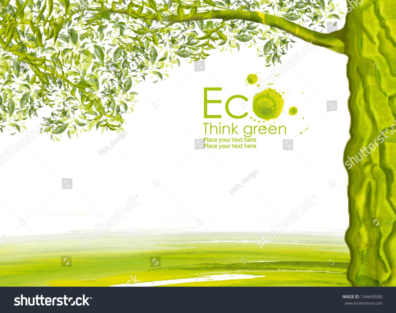 手绘环保宣传海报
