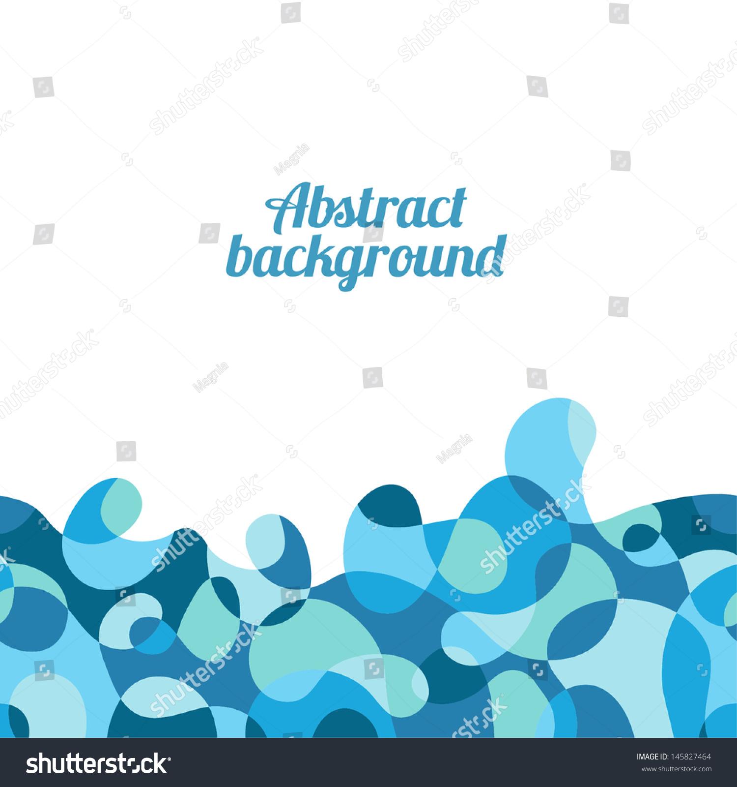 抽象的时尚海洋背景.无缝的边界.矢量图-背景/素材图片