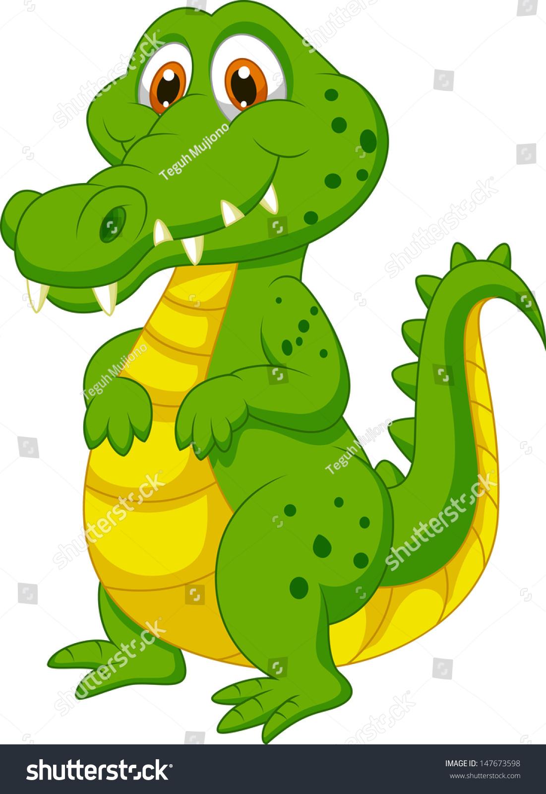可爱的卡通鳄鱼-动物/野生生物-海洛创意(hellorf)