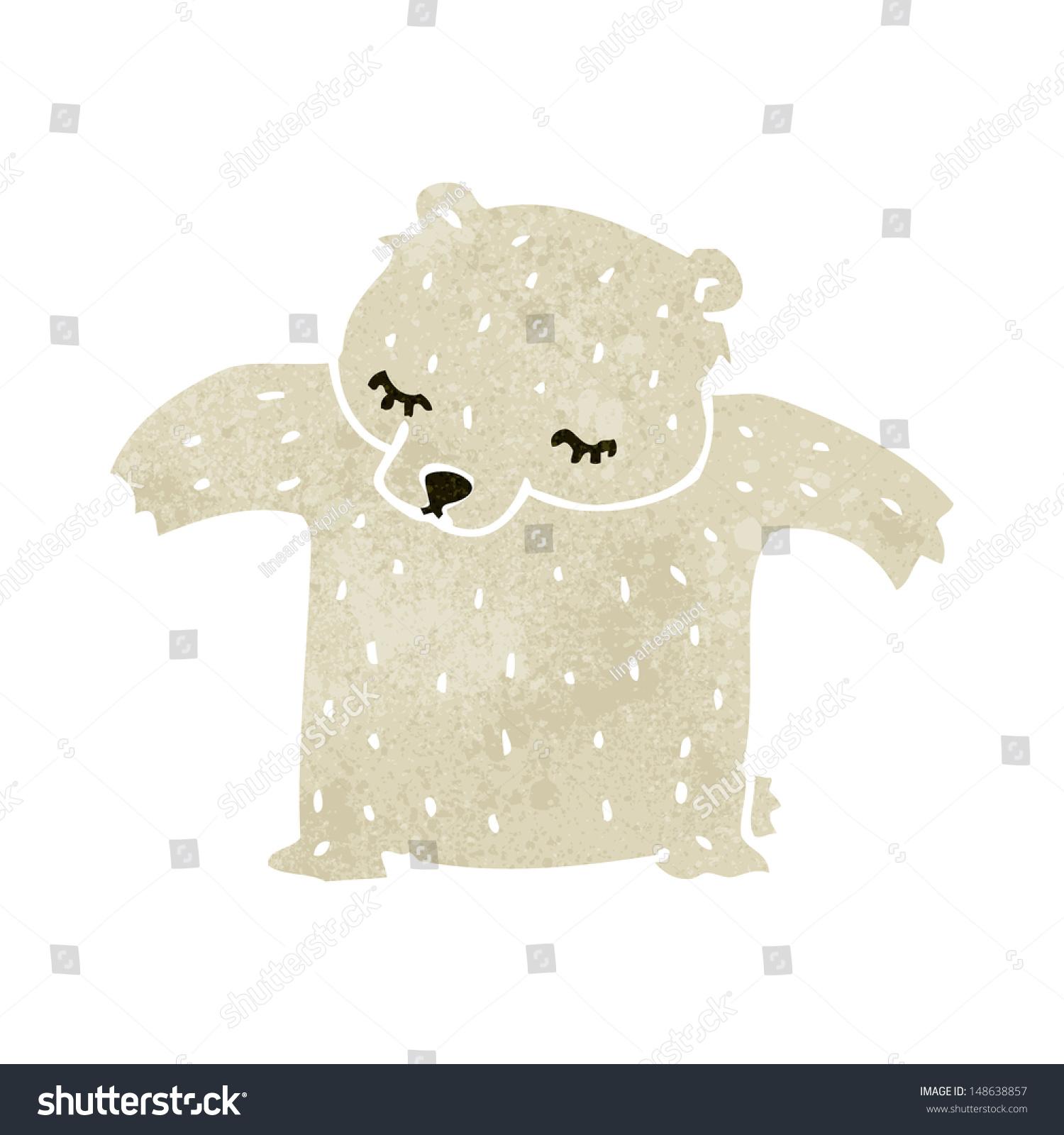 可爱的复古卡通北极熊-动物/野生生物-海洛创意()