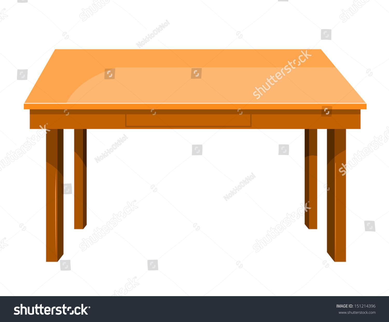 木桌上孤立在白色背景说明