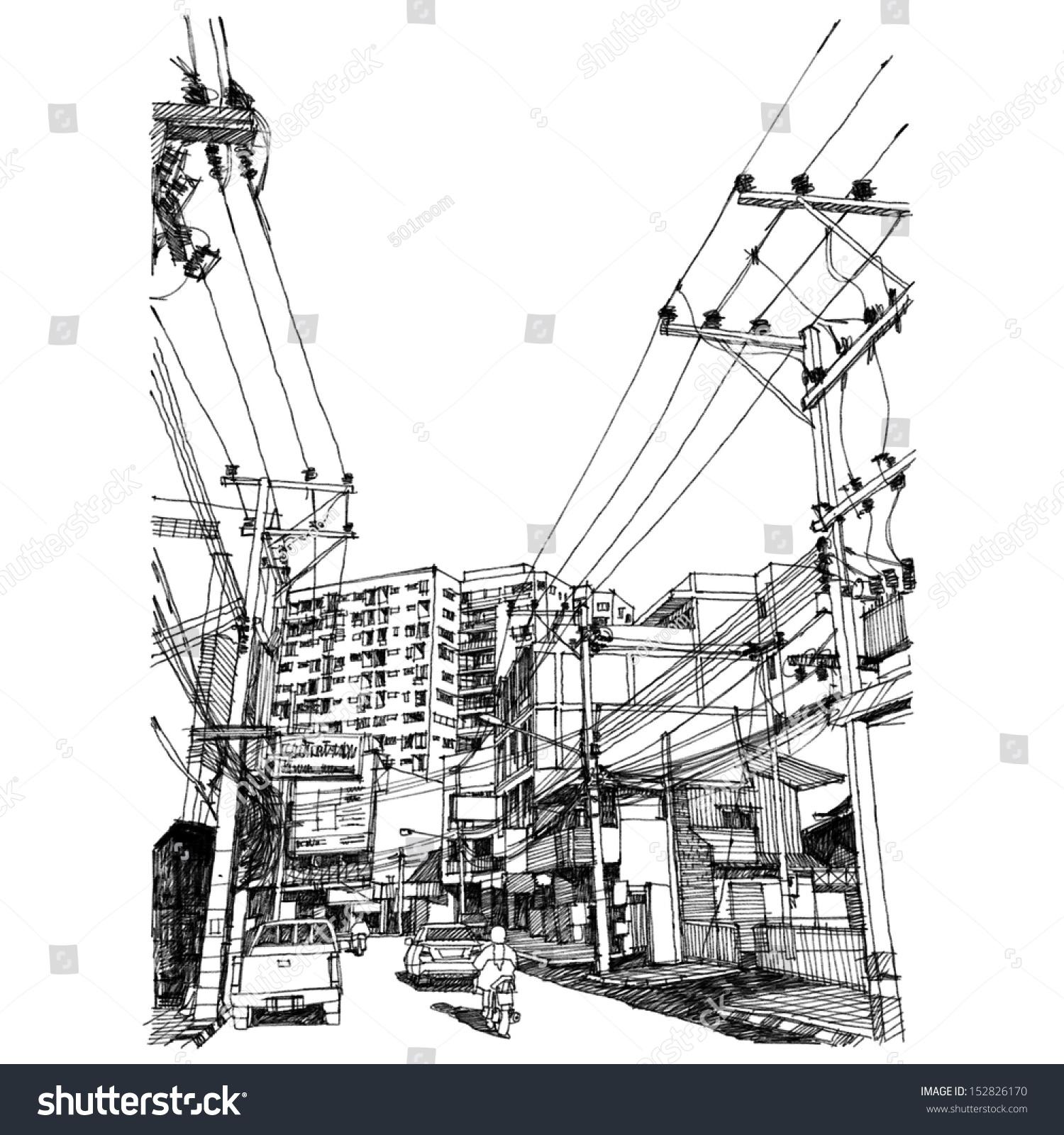 建筑手绘线稿数目