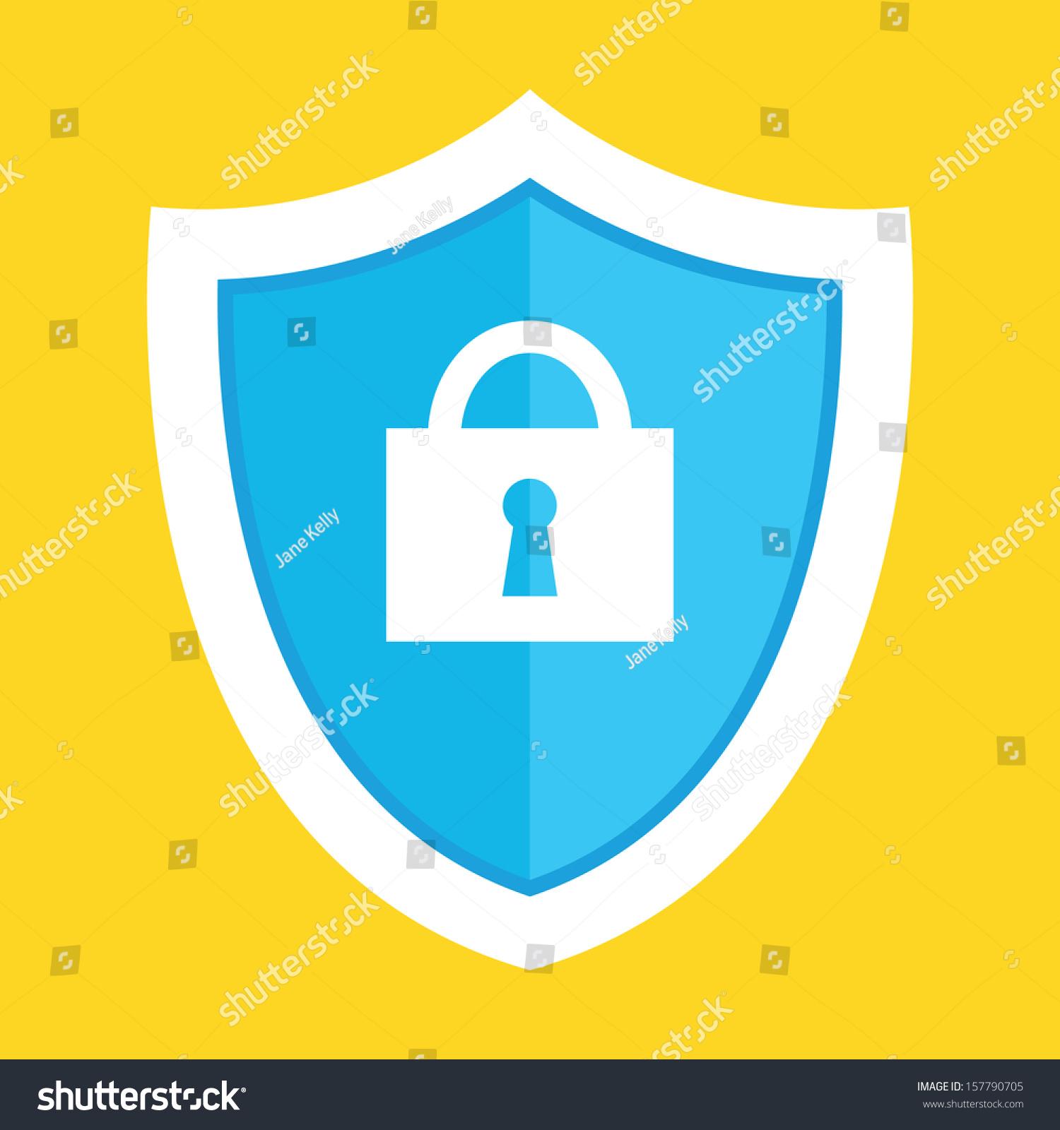 矢量防护盾图标-物体,符号/标志-海洛创意(hellorf)-.