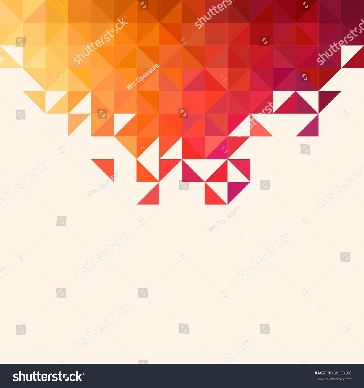 几何图形背景.彩色镶嵌图案.三角背景-背景/素材,抽象