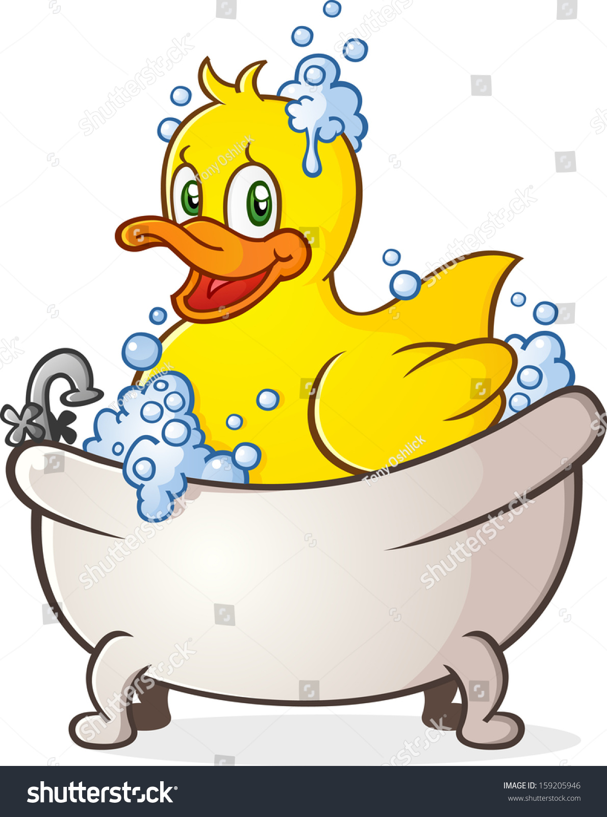 橡皮鸭泡泡浴卡通人物-动物/野生生物,物体-海洛创意