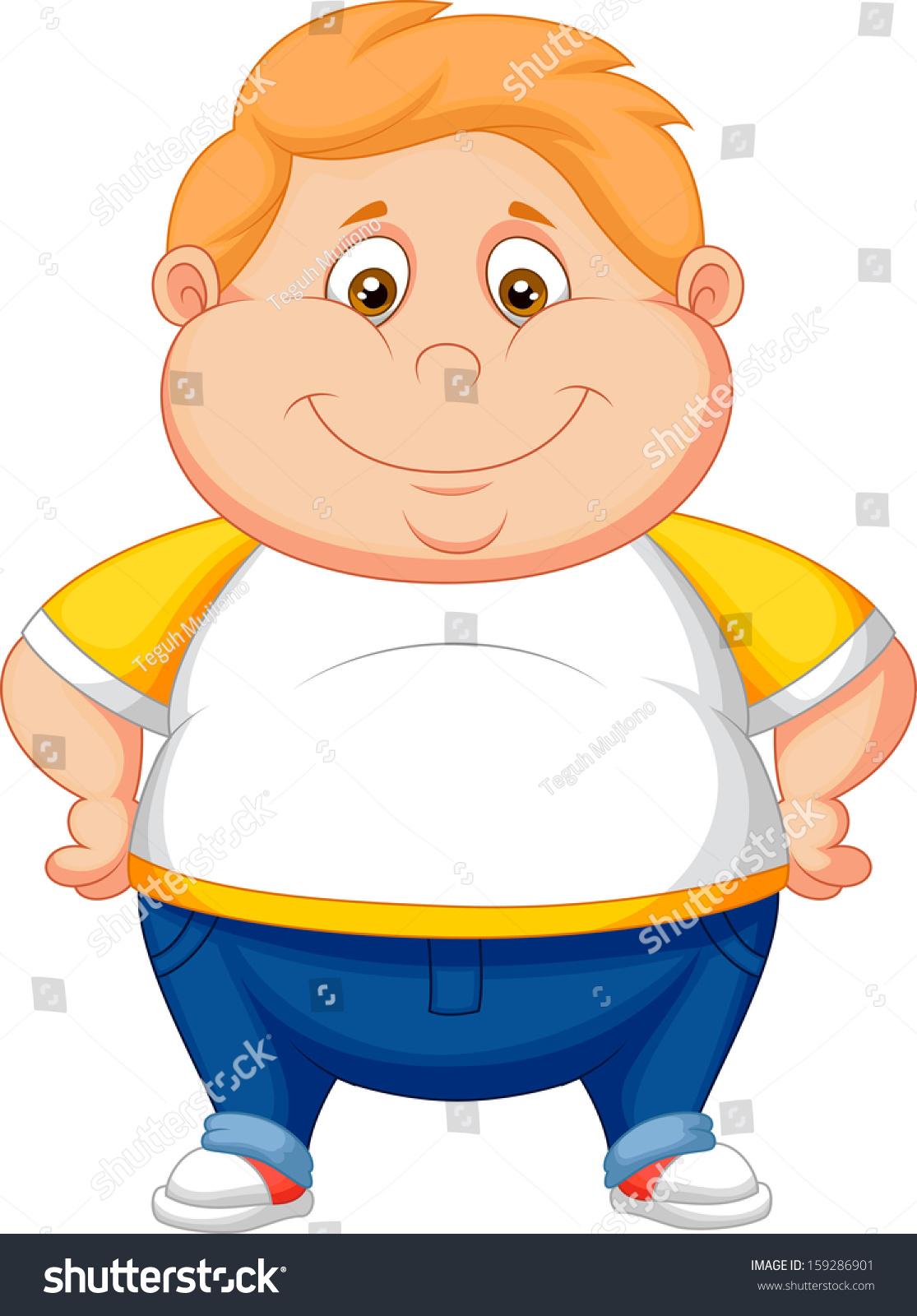 胖男孩卡通造型-人物-海洛创意(hellorf)-中国独家