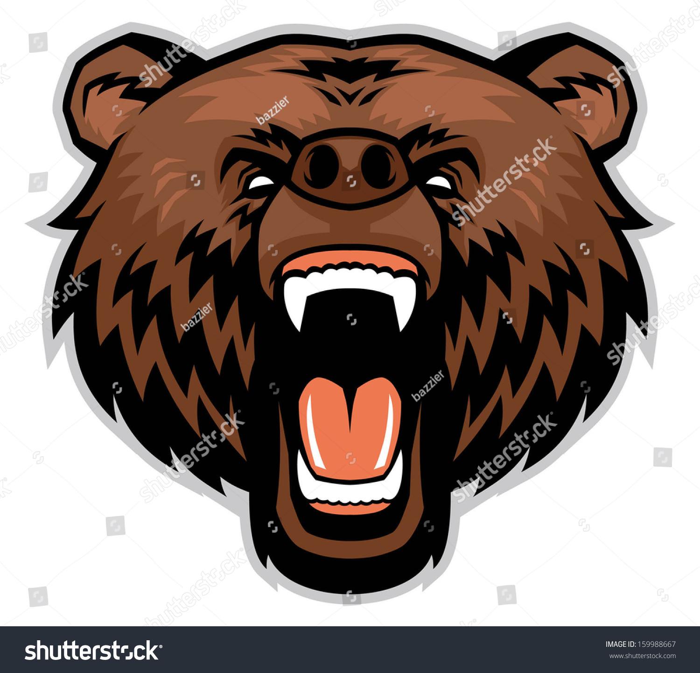 愤怒的棕熊的头-动物/野生生物-海洛创意(hellorf)