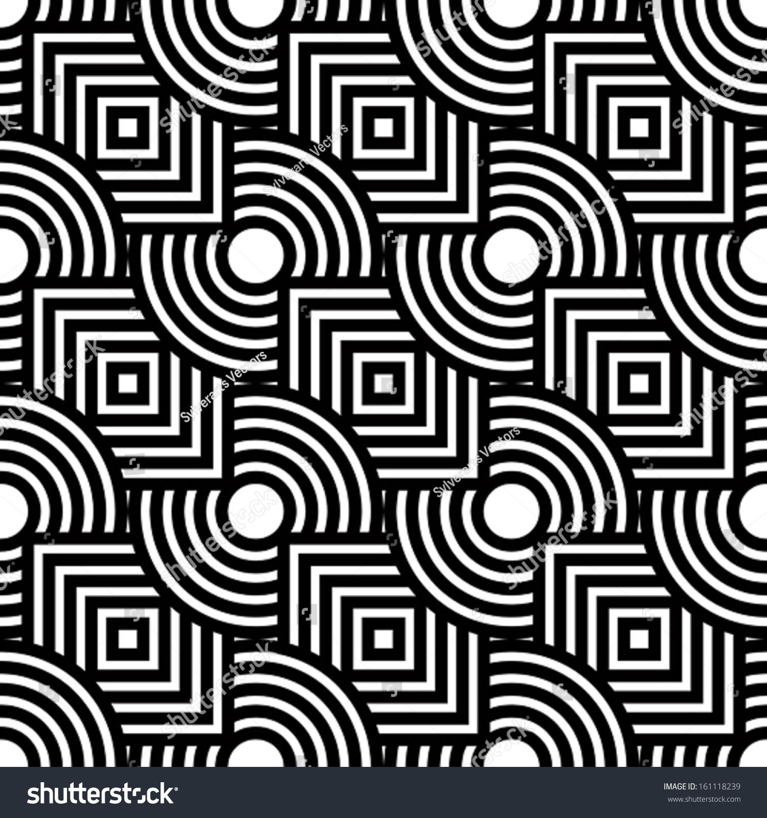 无缝的几何图案,简单向量黑白条纹背景,准确,可编辑和