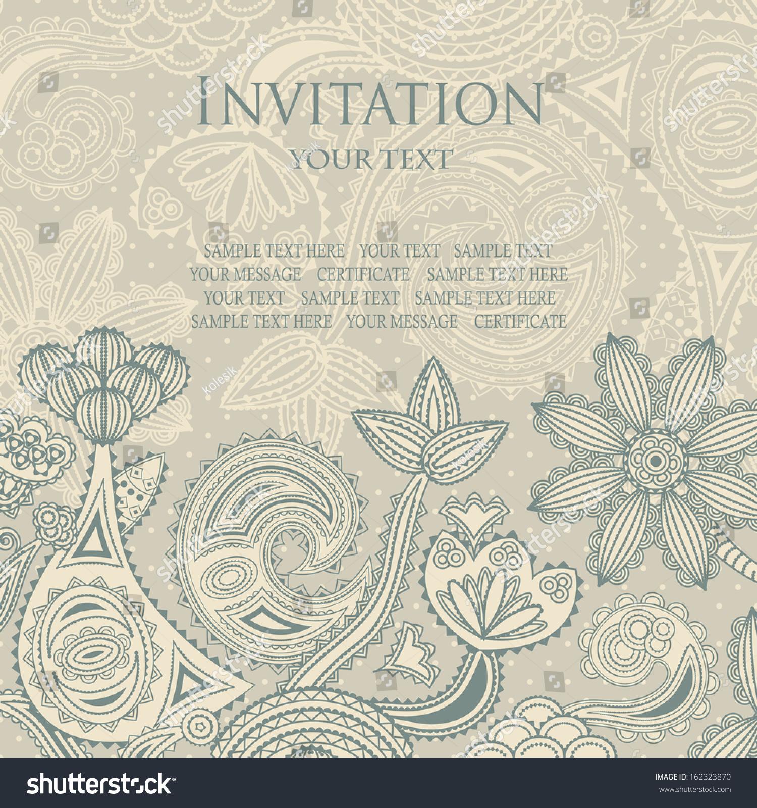 优雅的花卉设计.的背景与圆点花纹.可以作为婚礼的