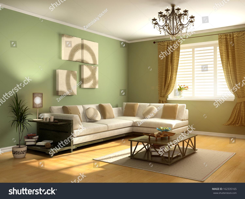 现代室内设计(私人公寓3 d渲染)-编辑-海洛创意()-合.
