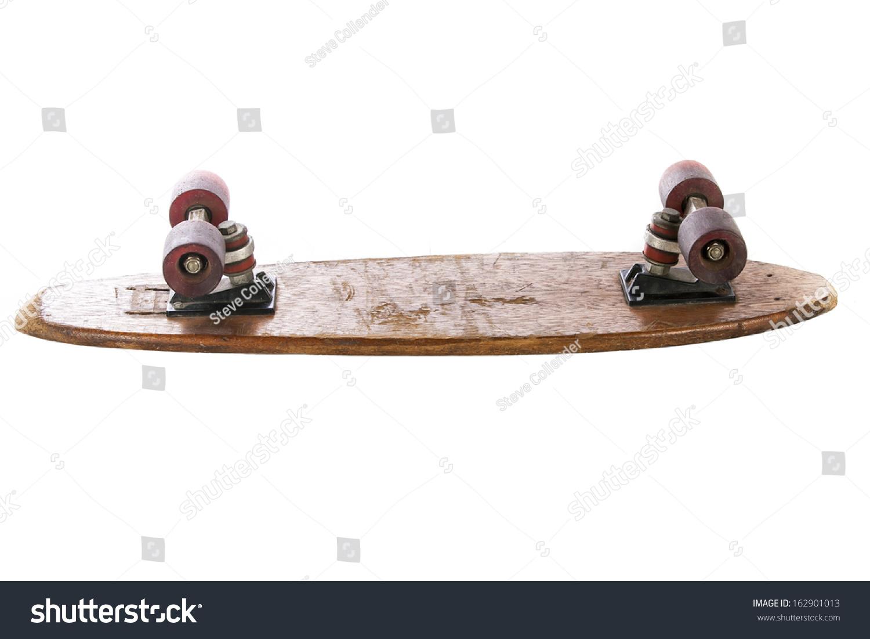 木70年的滑板在白色的背景