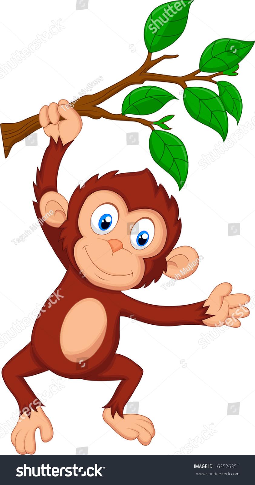 可爱的猴子卡通挂-动物/野生生物-海洛创意(hellorf)