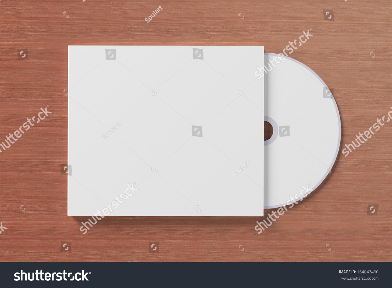 空白光盘封面木制背景用软阴影