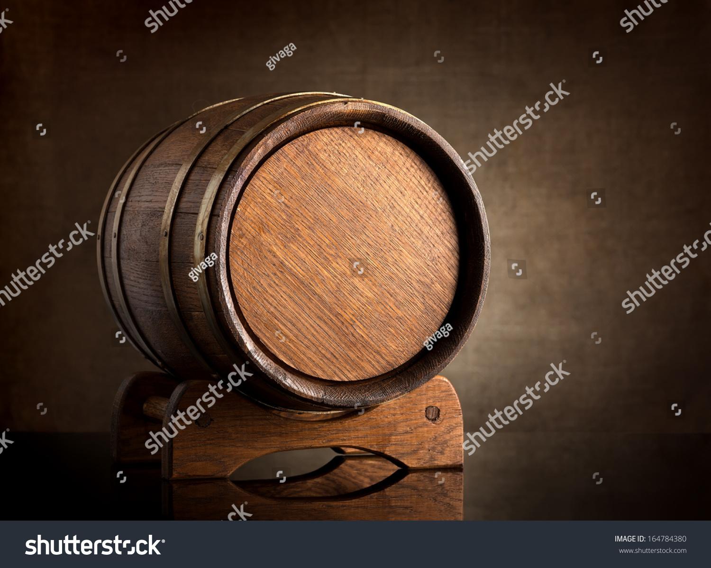 旧木头桶的背景画布上-食品及饮料,物体-海洛创意()-.