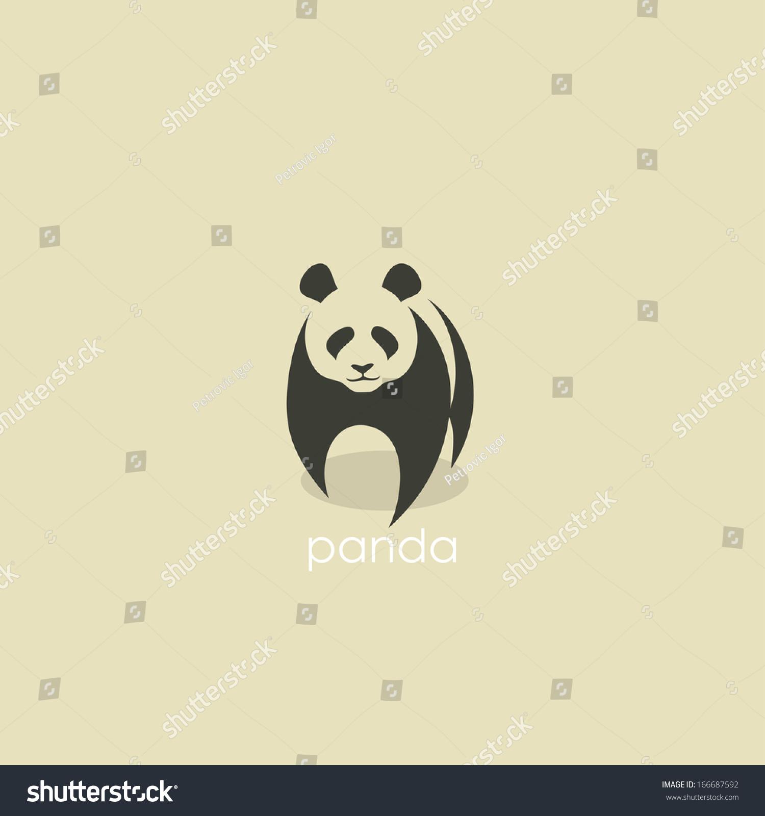 熊猫象征——矢量插图-动物/野生生物,符号/标志-海洛