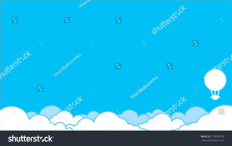多云的背景,一个气球-背景/素材,自然-海洛创意()-合.