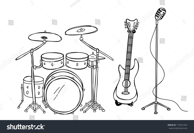 吉他超级简笔画