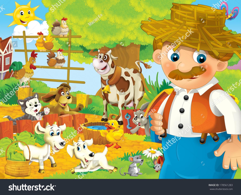卡通农场——儿童-动物/野生生物