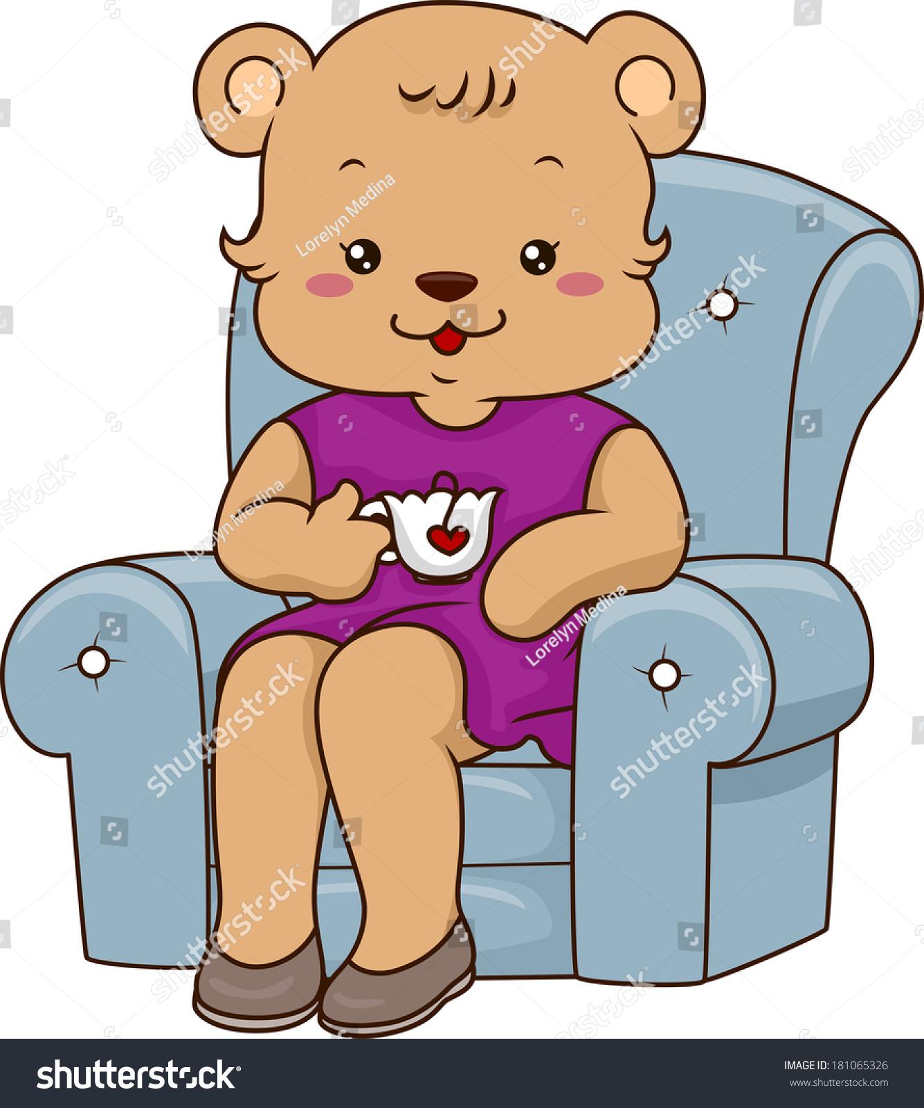 一只成年母北极熊喝茶-动物/野生生物-海洛创意()-合