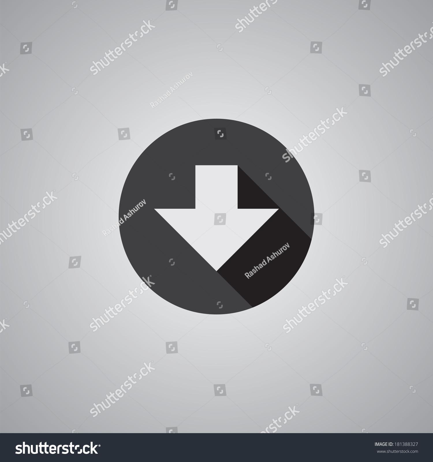 箭头向下,符号插图-抽象-海洛创意(hellorf)-中国独家