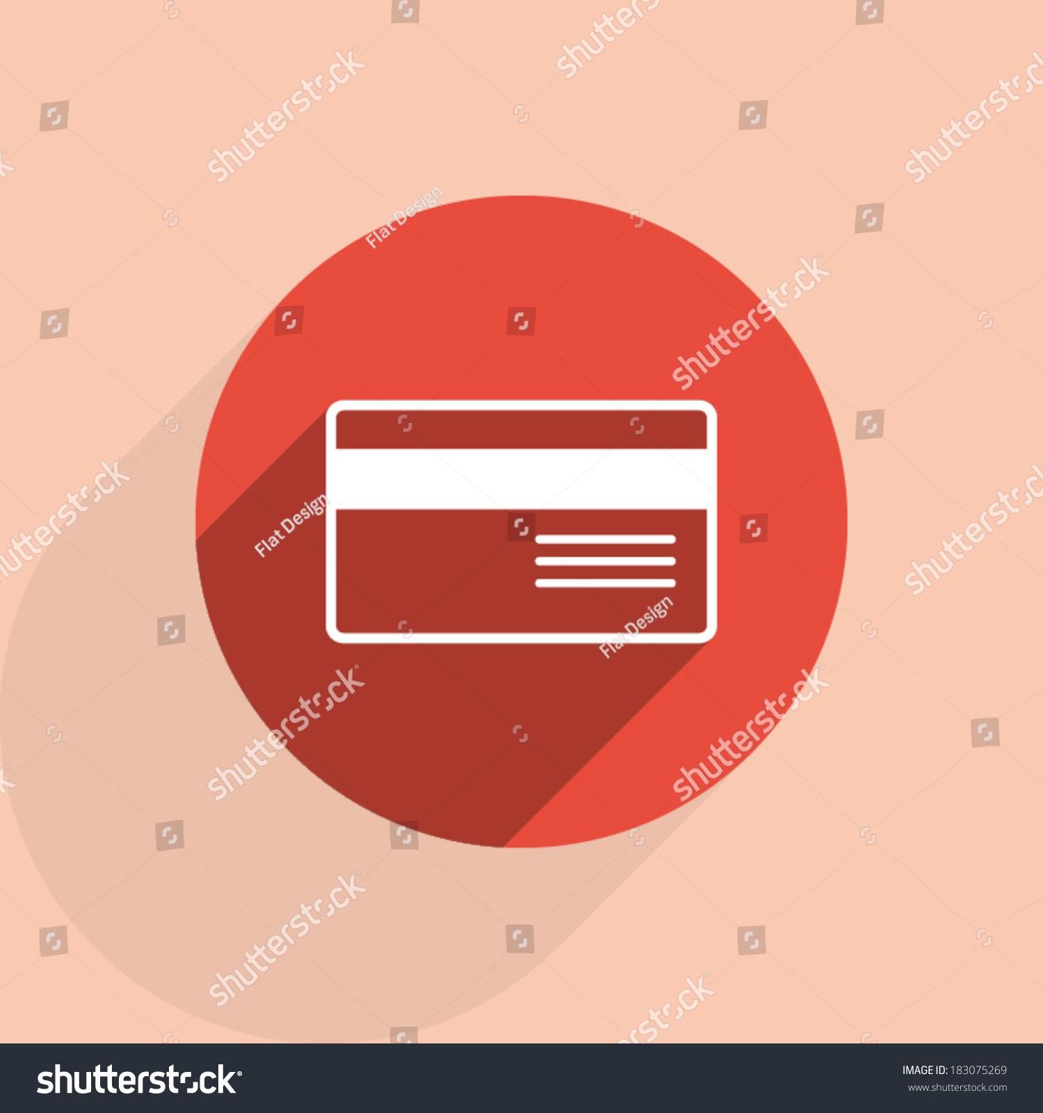银行信用卡图标,矢量图.平面设计风格