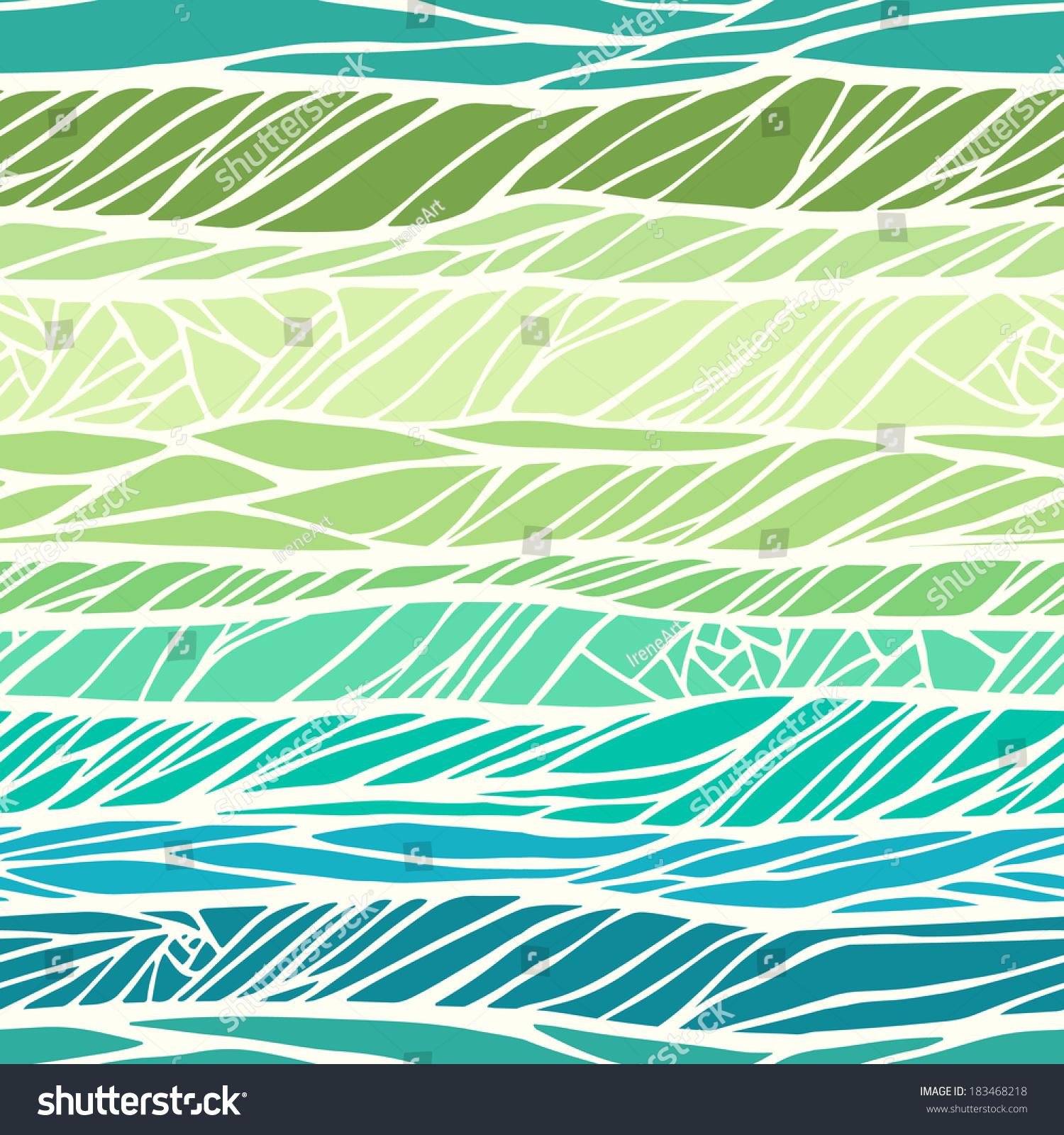 用彩色手绘的无缝图案抽象几何装饰-背景/素材,抽象