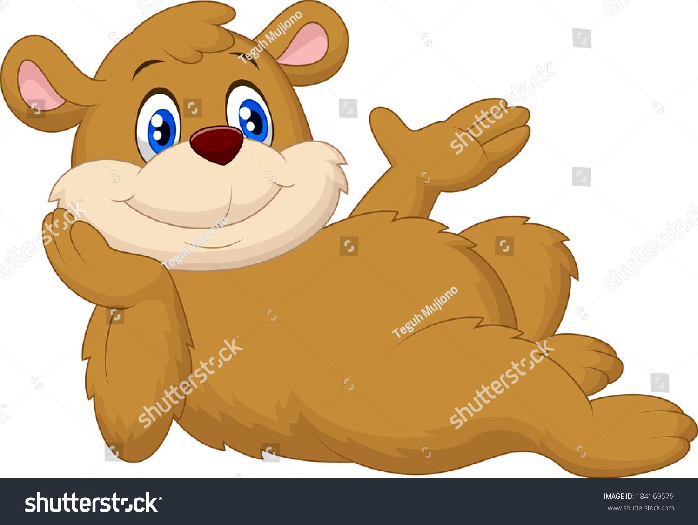 可爱的卡通熊放松-动物/野生生物-海洛创意(hellorf)