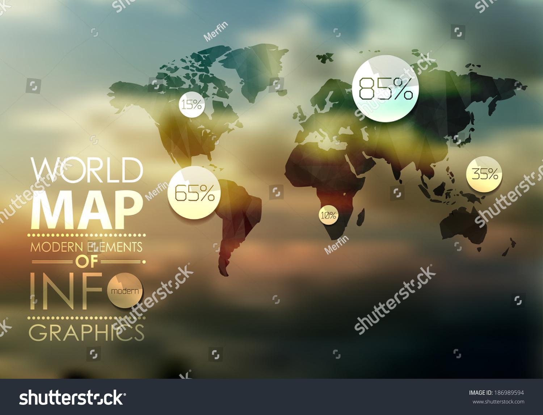 旗帜网站_世界地图背景在多边形风格的网站,图表,旗帜.
