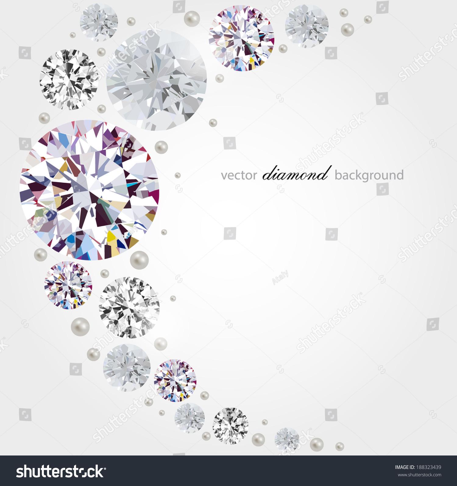 抽象的背景与钻石和珍珠-背景/素材,抽象-海洛创意()