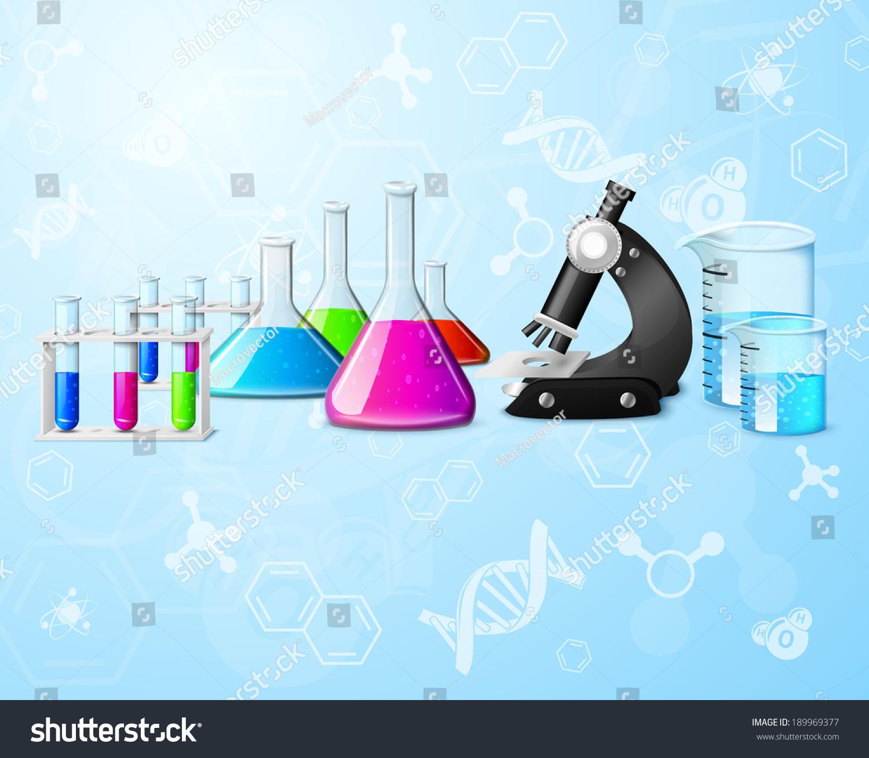 教育科学的化学物理研究实验室设备元素公式背景矢量